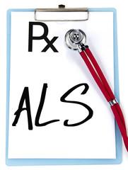 ALS sign write on prescription