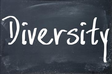 diversity word write on paper