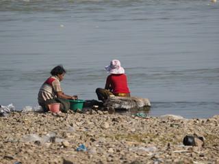 Artes tradicionales de pesca en Mingun (Myanmar)