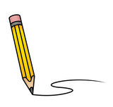 Fototapety Cartoon Pencil Writing