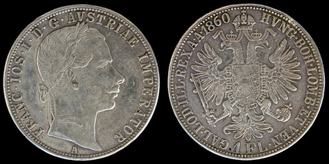 Obverse and Reverse of Austria Coin.