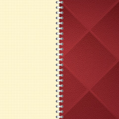 Checkered notebook background