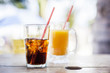 Softdrink, Cola, Orange juice - 78186554