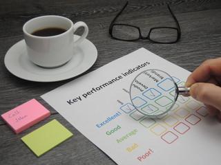 Inspecting key performance indicators
