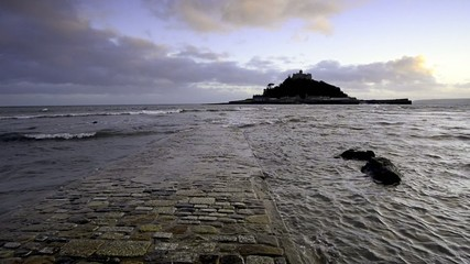 St Michaels Mount at Marazion near Penzance in Cornwall