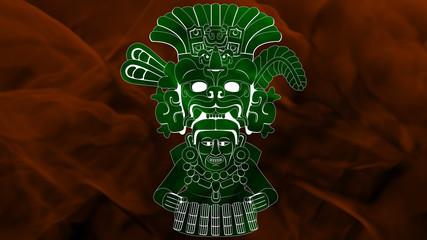Maya - Yum Kaax 2 - Green & Orange
