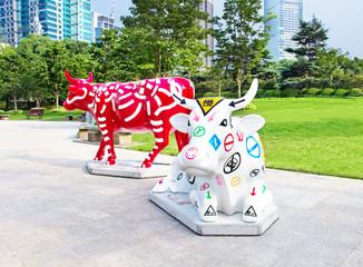 September 29, 2014 Shanghai. Sculpture in the park