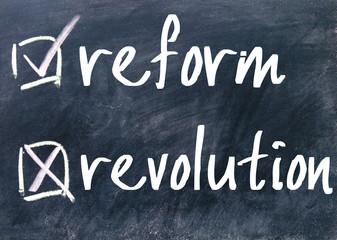 reform or revolution choice