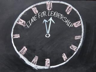 time for leadership sign on blackboard