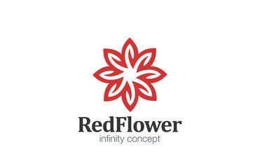 Logo Flower abstract infinity loop design vector