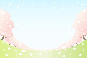 桜咲く草原
