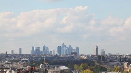 Paris cityscape with La Defense at the horizon