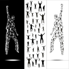 Silhouettes for sporting events and concerts