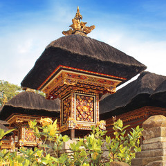 Traditional Balinese temple roof