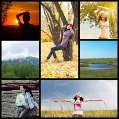 Communion with nature collage