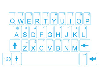 KEYBOARD QWERTY BLUE