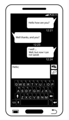 SIMPLE MOBILE PHONE BLACK