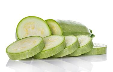 Fresh vegetable marrow isolated on white background.