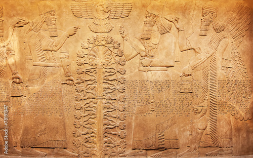 Fotobehang Egypte Sumerian artifact