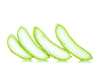 aloe vera on white background