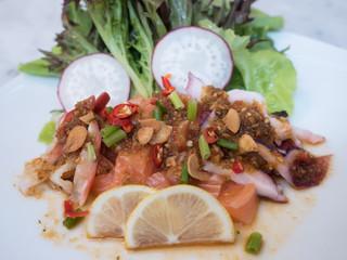 sashimi spicy salad
