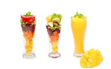 Tropical mix fruit , fresh fruit smoothie