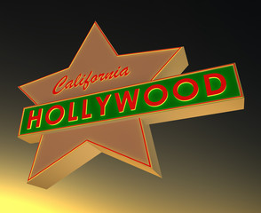 Hollywood and star 3d