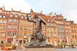 Leinwanddruck Bild - Mermaid statue of Old Town Market Place. Warsaw, Poland
