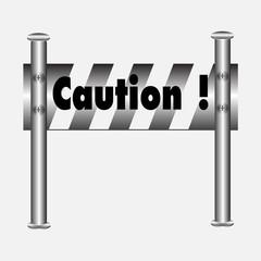 barricade warning sign