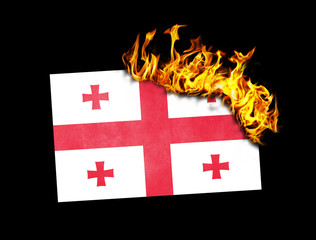 Flag burning - Georgia