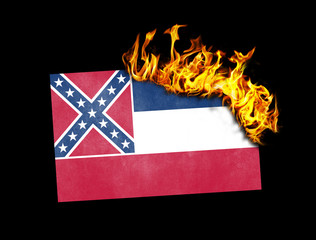 Flag burning - Mississippi