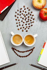 coffee smile. office work concept