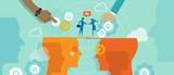 business concept merger communication poster
