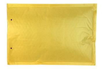 Bubble envelope isolated on white background.