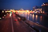 abstract night background bokeh city - Fine Art prints