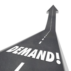 Demand Rising Word Road Going Up Increasing Improving