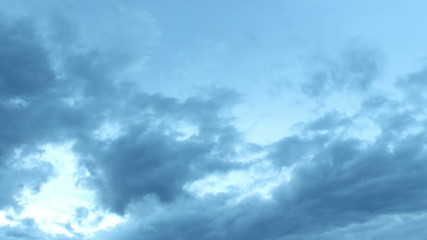 Clouds through twilight