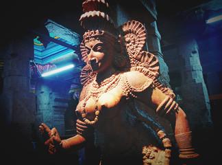 Sculpture in Hindu Temple Meenakshi