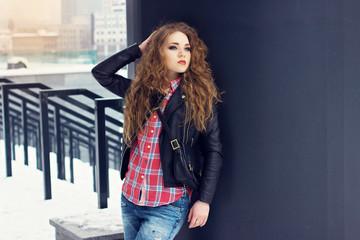 Stylish fashion portrait