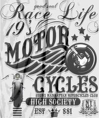 Motorcycle vintage graphics, Road Trip