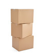 box package delivery cardboard carton stack - 78199719