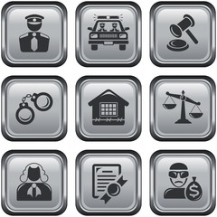 Security and law button set