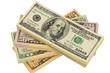 Viele Dollar Geldscheine