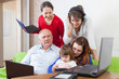family uses few various  devices in home