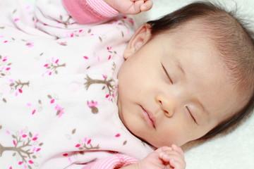 赤ちゃん(0歳児)の寝顔
