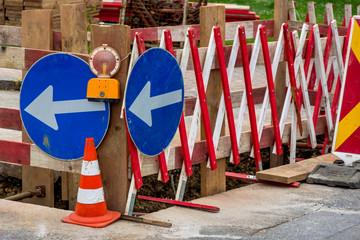 Baustelle auf einer Straße