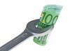 canvas print picture - Werkzeug und Euro-geldscheine