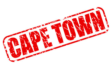 Cape town red stamp text