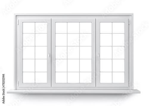 Staande foto Wand Window