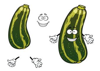 Cartoon striped green zucchini vegetable